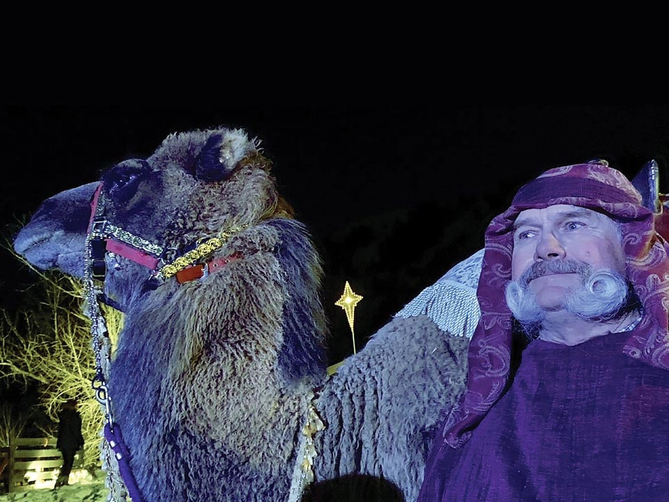 Audience & Animals Share Peace and Reverence at Live Nativities