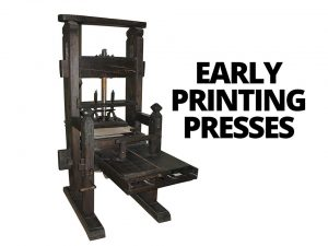 Printing presses in the west