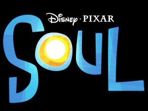 "Illustrated text reading ""Disney • Pixar Soul"""