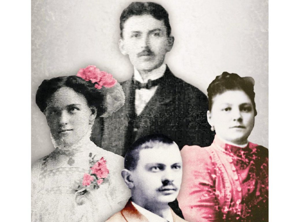 Vintage photo of Russian Family of the book East of the East Side