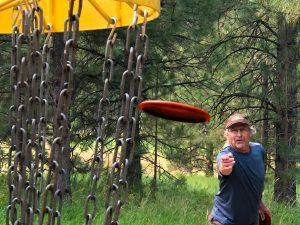 World champion disc golfer Jon Graff, 73, of Missoula, Mont.