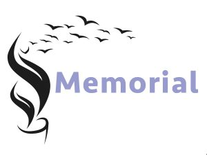 Illustration abstractly representing online memorials