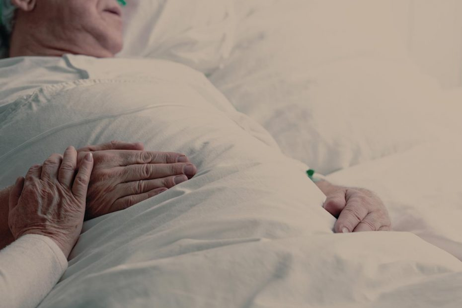 Photo of a senior man in hospice